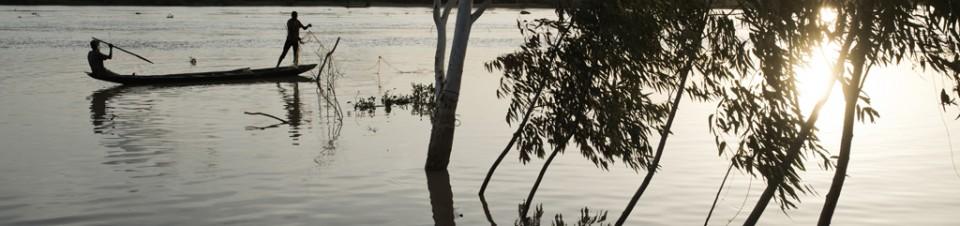 Niger River flood, Niamey region.
